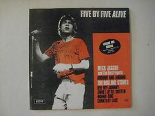 "The Rolling Stones– Five By Five Alive 7"" vinyl 5 song EP Dedca VG+ Live records"