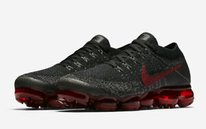 8a56f1ded0ed NEW Nike Air Vapormax Flyknit Black Dark Team Red 849558-013 US 11 ...