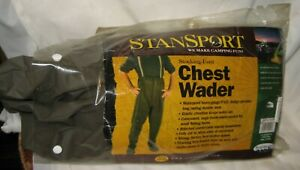 STANSPORT-Vinyl-Stocking-Foot-Waterproof-Chest-Waders-Fishing-Hunting-NEW-LARGE