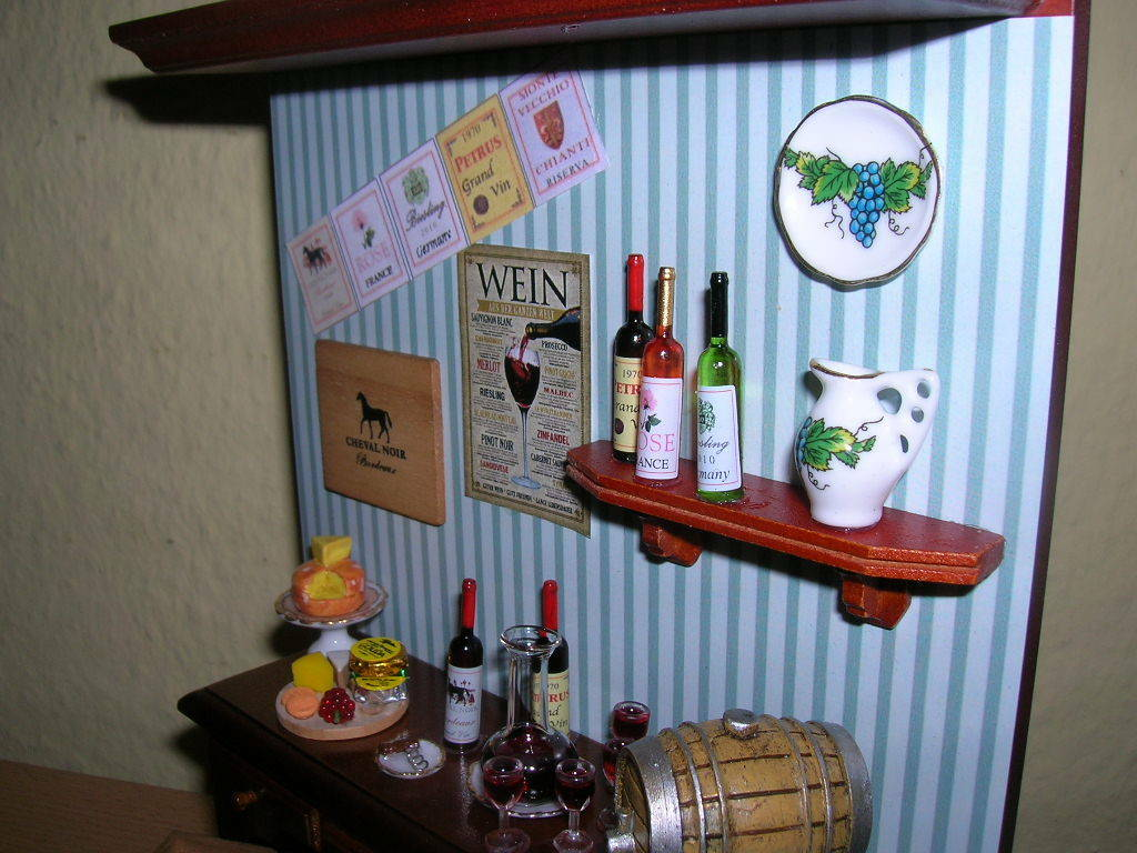 Célébrez Noël et bienvenue au Nouvel Nouvel Nouvel An Reutter porzellan weinverkostung wine tasting diorama poupée 1:12 1.801/7 7c51dc