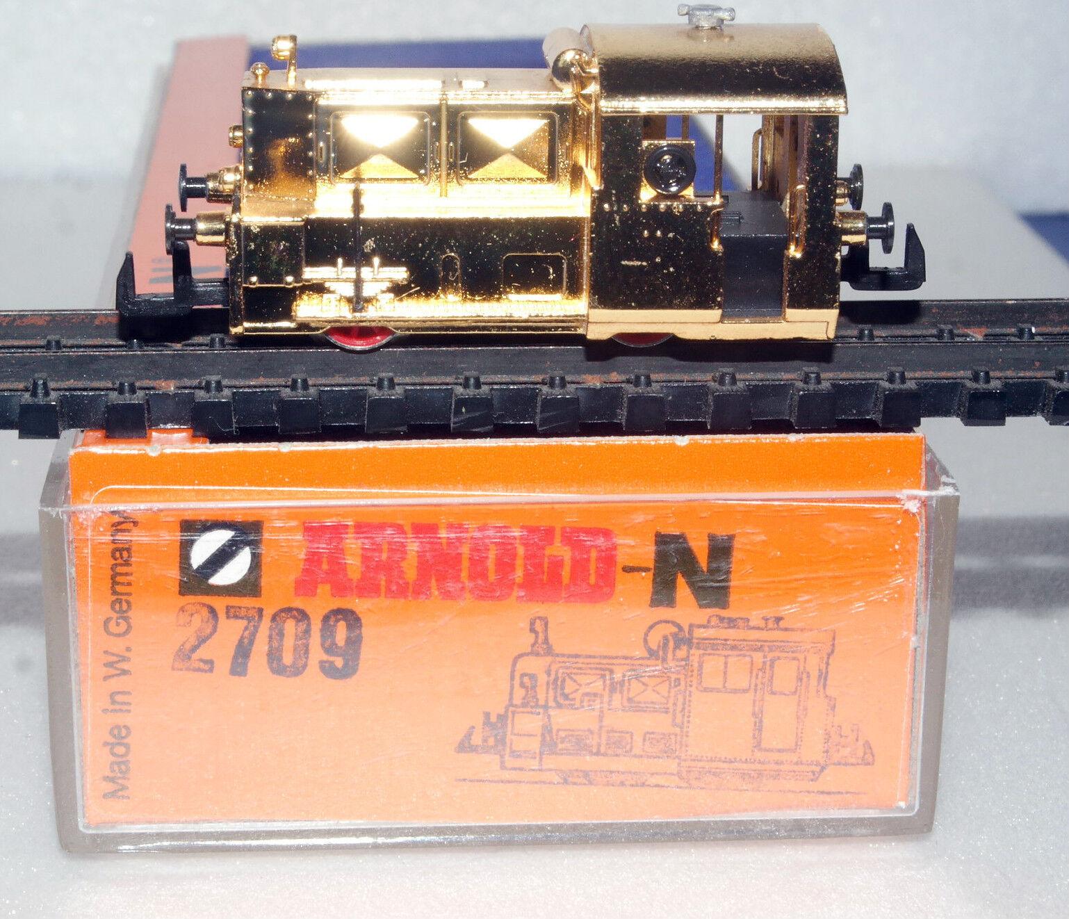 Arnold Spur N 2709 KÖF  verGoldet ohne Antrieb in OVP (NW2340)    Neues Produkt