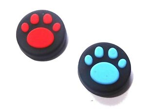 2-x-Nintendo-Switch-Coloured-Silicone-Thumbstick-Paw-Print-Cover-Protectors-UK