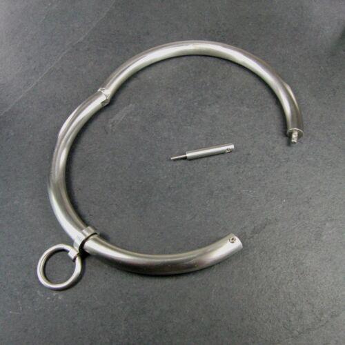 Halsreif el cuello o anillo de acero inoxidable alrededor del cuello de acero joyas con cierre XS-XXL