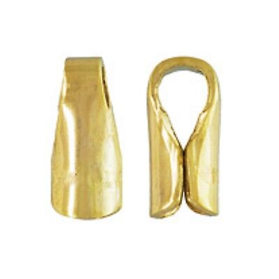 2x 3mm 18ct Gold Plated Sterling Silver Crimp On End Caps Zonder Terugkeer