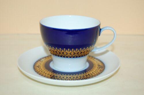 Kaffeetasse 2 tlg. Gedeck Rotunda kobalt Goldbordüre Thomas