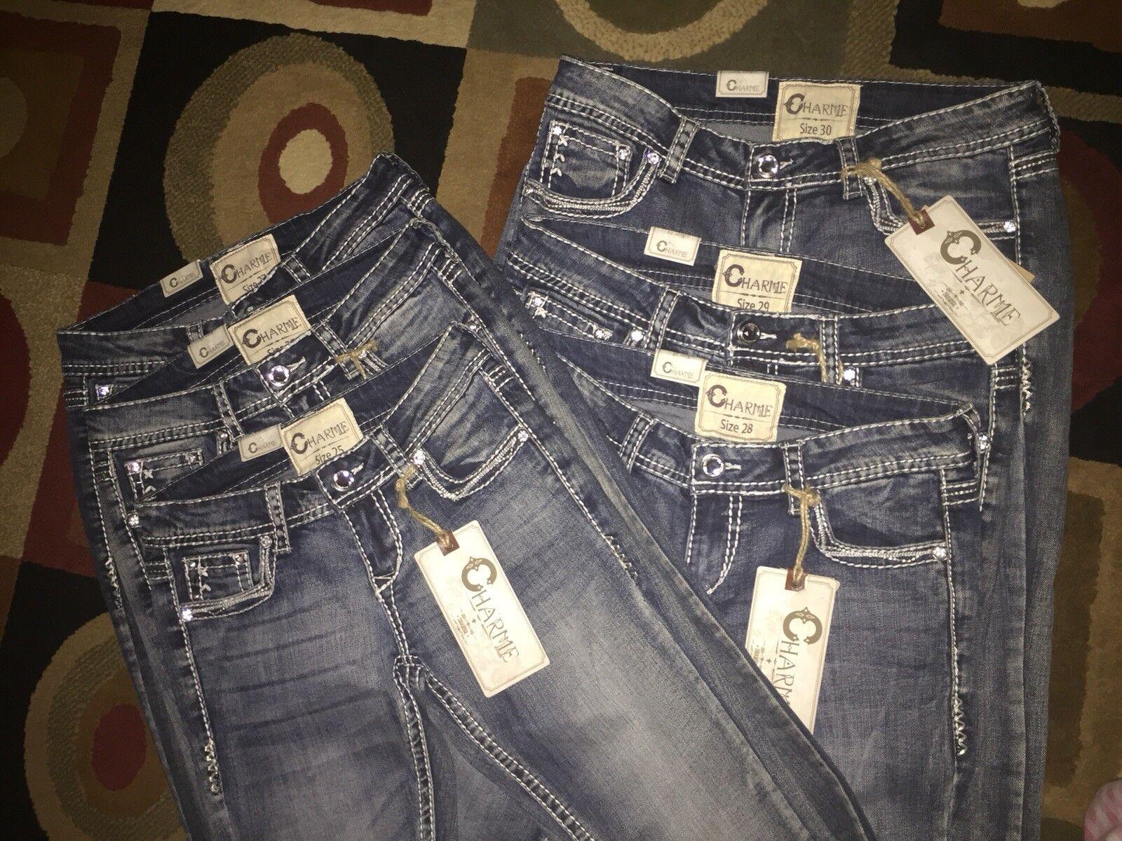 Charme Jeans by Grace In L.A. - Western Bootcut Jeans SKU  CJB-5953-OTS