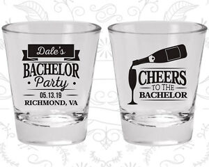 Bachelor Party Shot Glasses Glass Favors (40072) Cheers