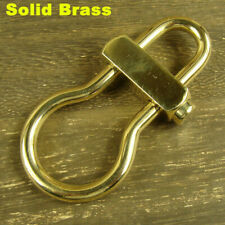 Solid brass Detachable Safety Keychain Pants Clip key ring hook holder H576