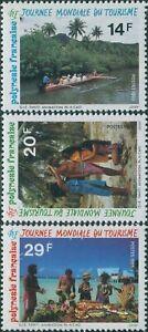 French-Polynesia-1993-SG684-686-International-Tourism-Day-set-MNH