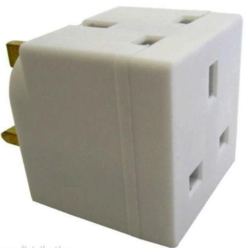 2 voie multi mains socket adaptateur double prise ce approuvé 13amp uk 3 broches