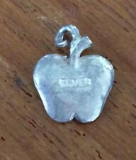 APPLE Shaped miniature VINTAGE SILVER CHARM FOR CHARM BRACELET  PENDANT
