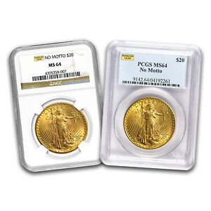 $20 Saint Gold Double Eagle MS-64 NGC/ PCGS (Random) - SKU #163589