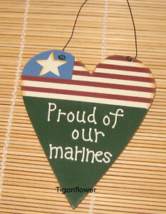 Country-Wood-Cut-Out-Sign-Patriotic-Heart-Proud-Of-Our-MARINES-Buy-2-get-1-free