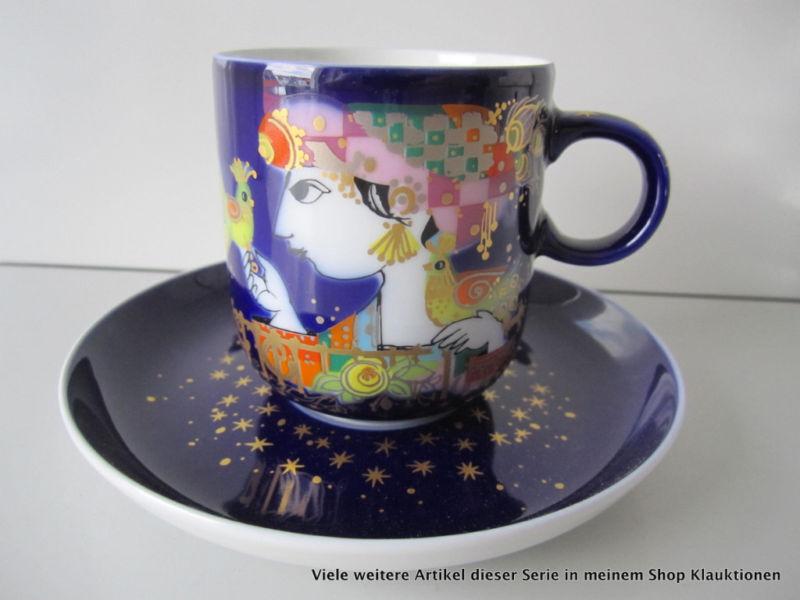 Rosenthal 1001 Nuit Wiinblad Tasse à Café & Soucoupe Cup & Soucoupe