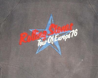 * 1976 Rolling Stones * Vtg Rock Konzert Tour Sweatshirt S Selten 70er Jahre Guter Geschmack