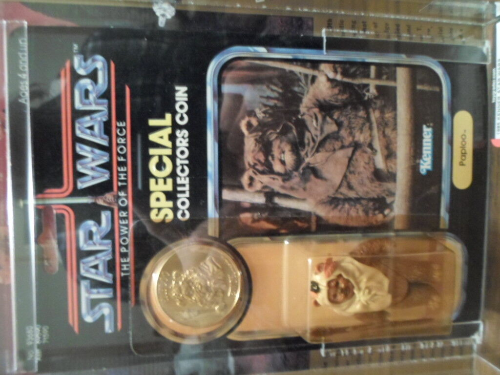 RARE   Kenner Star Wars AFA AFA AFA Y85 Power Of The Force Paploo With High Subgrades  4f1f87