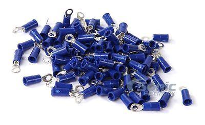 Blue Install Bay 3M Ring Terminal Connector Vinyl 16//14 Gauge #8-100 Pack