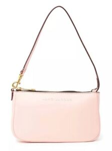 fax pantry Company  New Marc Jacobs Trendy City Slick Shoulder Pochette Leather Bag Blush Pink  | eBay