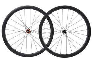 Road-Bike-Wheels-Disc-brake-Clincher-Carbon-Wheelset-700C-Matt-Cycle-Race-38mm