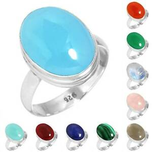 925-Sterling-Silver-Gemstone-Ring-Handmade-Jewelry-Size-5-6-7-8-9-10-11-12-Ha412