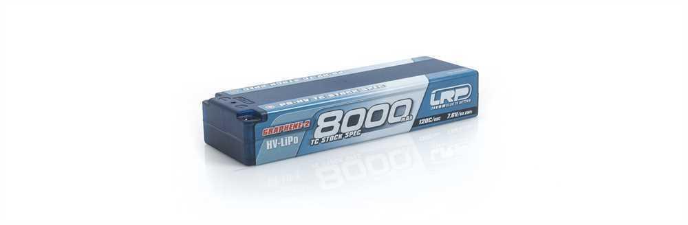 LRP 8000mah TC bastón spec graphene p5 120c 60c 7.6v Lipo batería 1 10 estuche duro - 4