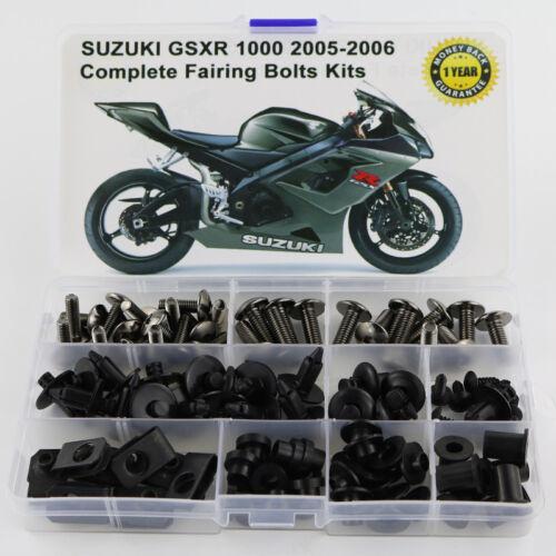 Fit For Suzuki GSXR1000 2005 2006 2005 Steel Complete Fairing Bolts Titanium