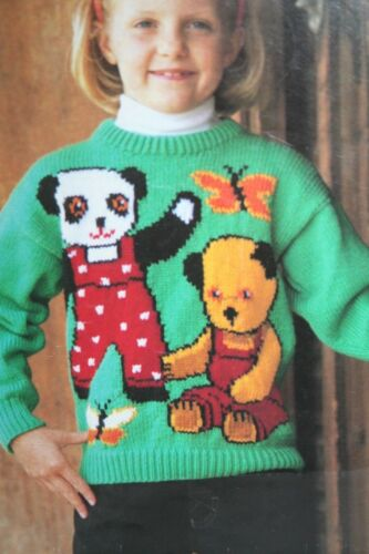 MAC015 Soo and Butterfly Motif KNITTING PATTERN Girls//Ladies Jumper with Sooty