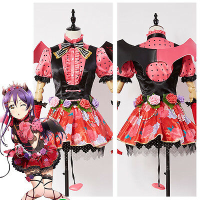 Love Live!Umi Sonoda Sweet Devil Gown Outfit Demon Dress Cosplay Costume