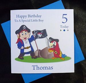 Image Is Loading PERSONALISED Handmade Birthday Card 4th 5th 6th 7th