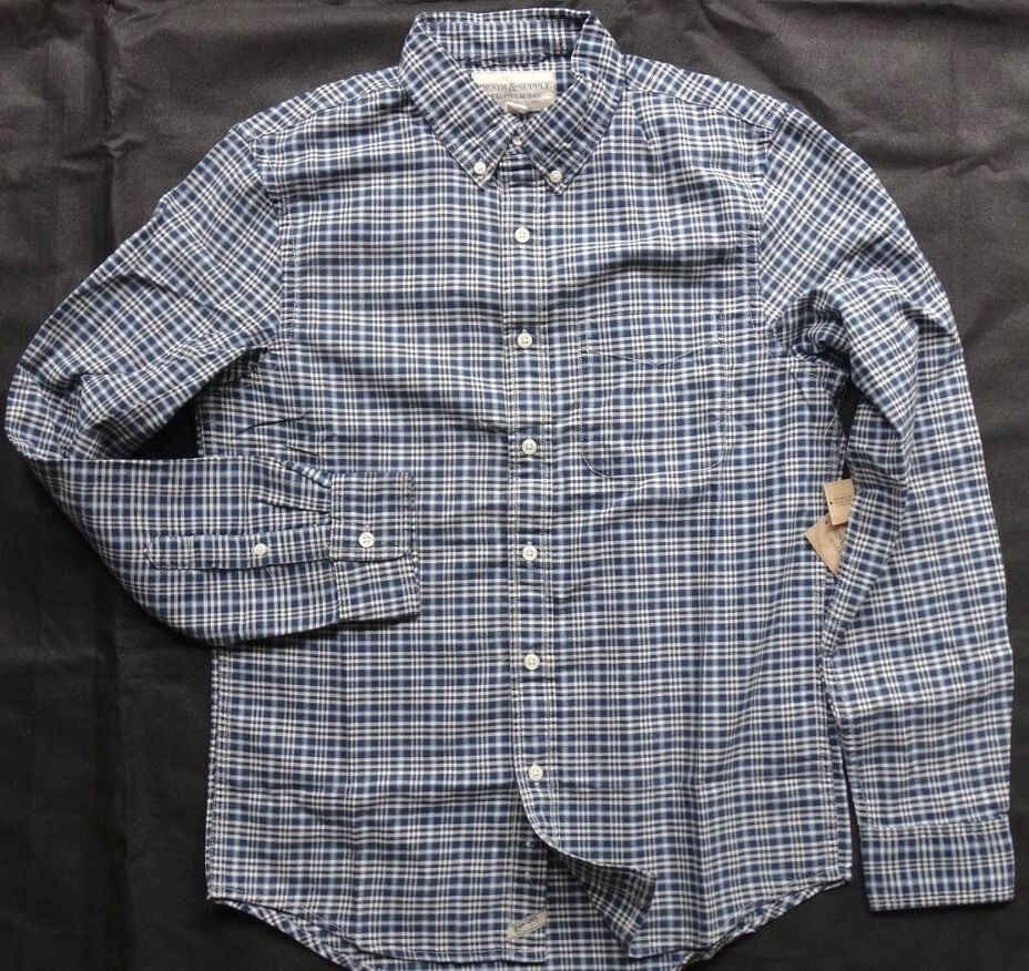 Denim & Supply Ralph Lauren PLAID PLAID PLAID OXFORD SHIRT TAGLIA S 82774a
