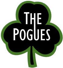 Pogues shaped shamrock vinyl sticker 95mm x 85mm Shane MacGowan Nips