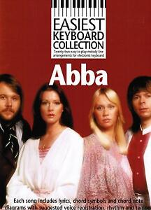 Keyboard-Noten-ABBA-22-Songs-Easiest-Collection-leicht-leichte-Mittelstufe