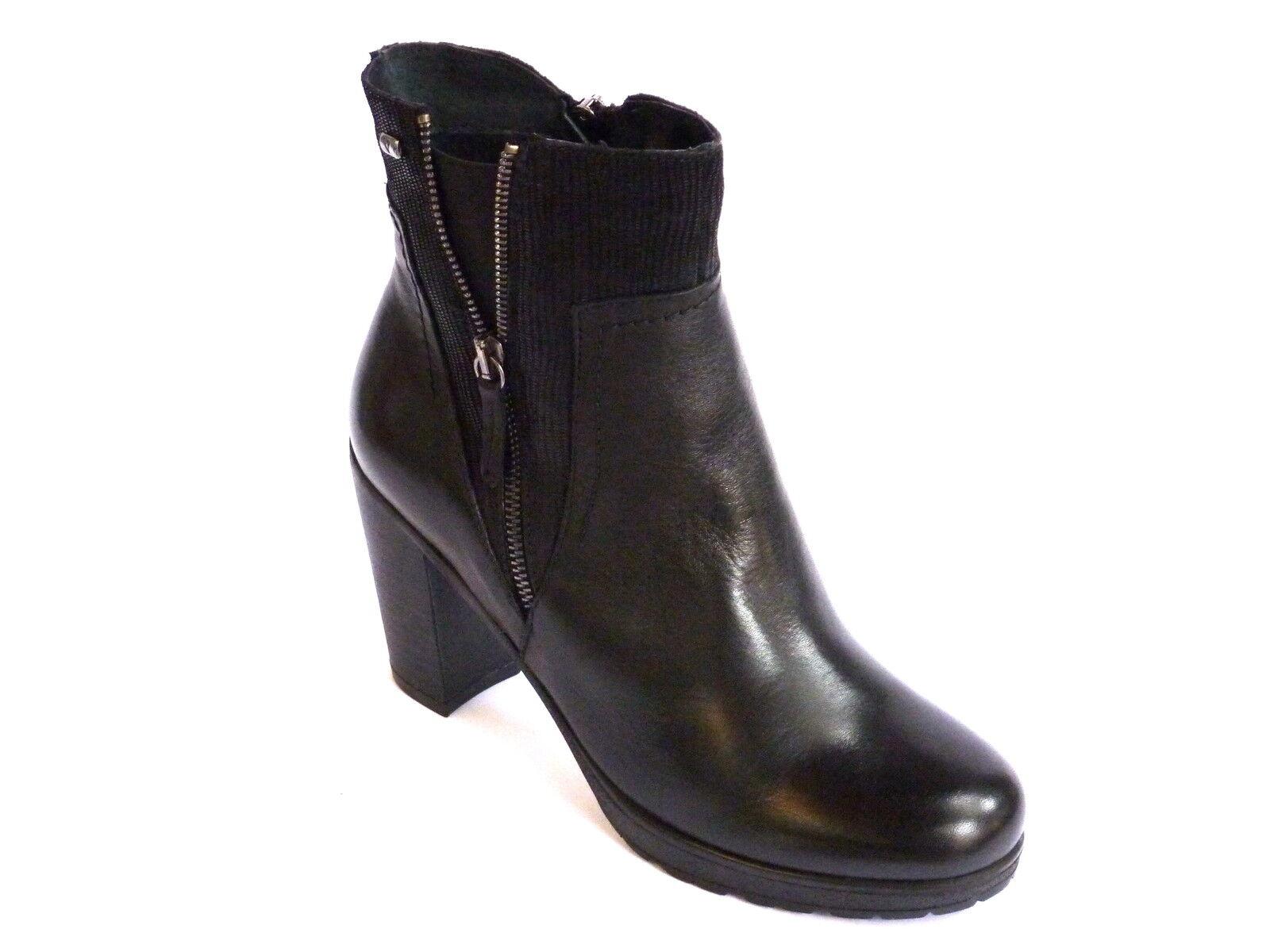 Grandes zapatos con descuento 49502 VALLEVERDE STIVALETTI DONNA TRONCHETTI PELLE NERO TACCO ALTO  n.37