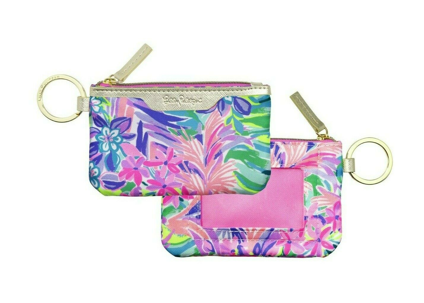 Lilly Pulitzer Fabric Lanyard with ID Case Back to School Teacher ID Holder