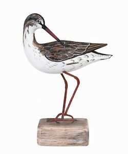 Details About Archipelago Hand Carved Wooden Birds Redshank Preening