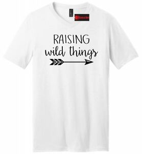 18bbea043 Raising Wild Things Funny T Shirt Fathers Day Dad Gift Mens V-Neck ...