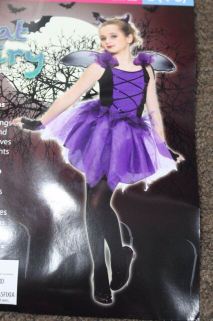 Bat Fairy S Costume Small 4 6 Purple Wings Cute Living Fiction New