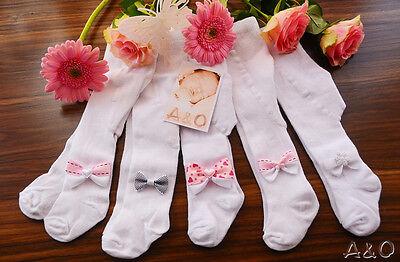 Strumpfhose festliche Baby Strumpfhosen Taufe Rosa 48 50 56 62 68 74 80 86