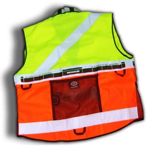Respro Hi-Viz Reflective Safety Super Bib Vest Waistcoat Bike Cycle Cycling Run