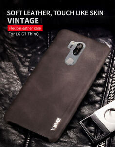 super popular d595d be5cf Details about X-Level For LG G7 ThinQ Vintage Business Skin Soft Leather  Case Slim Back Cover