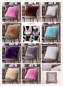 NEW-Wool-Sofa-Car-Pillow-Cover-Soft-Fur-Fluffy-Plush-Luxury-Cushion-Case-Home