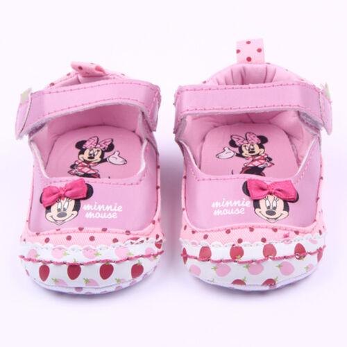 Toddler Baby Girl Crib Minnie Mouse Antiskid Pram Sandal Shoes Cartoon Prewalker