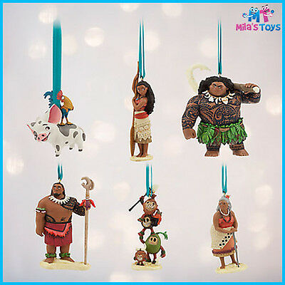 Disney Moana 6 piece Sketchbook Christmas Ornament Set Limited Edition of 5000