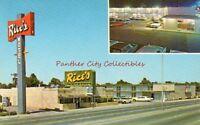 Vintage Postcard Rice's Motor Hotel Restaurant Amarillo Texas TX PC