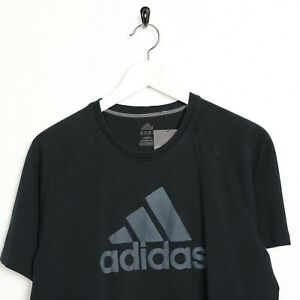 Vintage-ADIDAS-Big-Logo-T-Shirt-Tee-Black-Medium-M