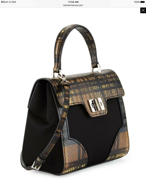 New Auth Prada Tessuto Leather Print Satchel Shoulder Tote Bag w/Box