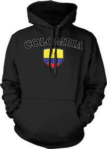 Colombia Faded Distressed Flag Colombian Country Pride 2-tone Hoodie Pullover