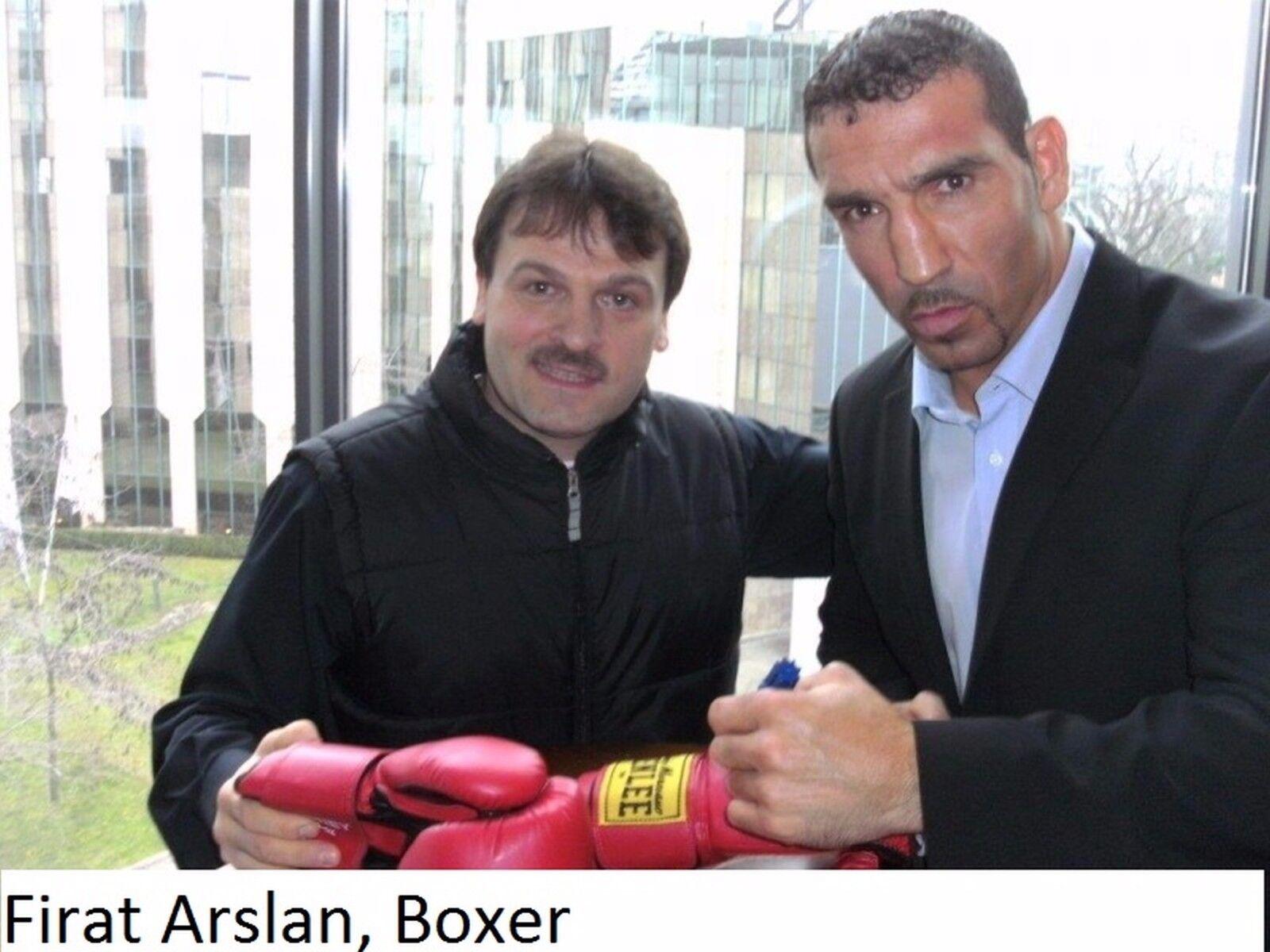 Firat Arslan Box-Europameister Handsigniert Boxhandschuhe;Original Handsigniert Box-Europameister