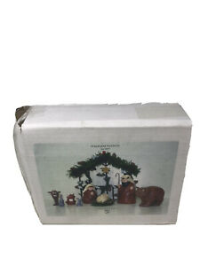 Rare-2006-Department-56-Stags-Leap-Small-Nativity-Set-Complete-In-Original-Box