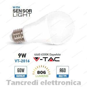 Lampadina-led-V-TAC-9W-E27-bianco-naturale-4500K-VT-2016-A60-crepuscolare-globo